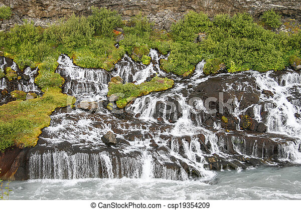 Waterfalls in Iceland - csp19354209