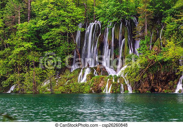 Waterfalls in Plitvice - csp26260848