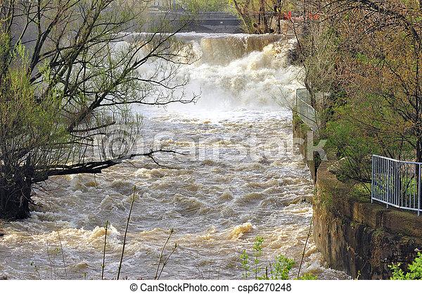 Waterfalls Spring Flood - csp6270248