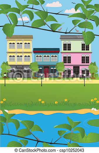 Waterfront home. - csp10252043
