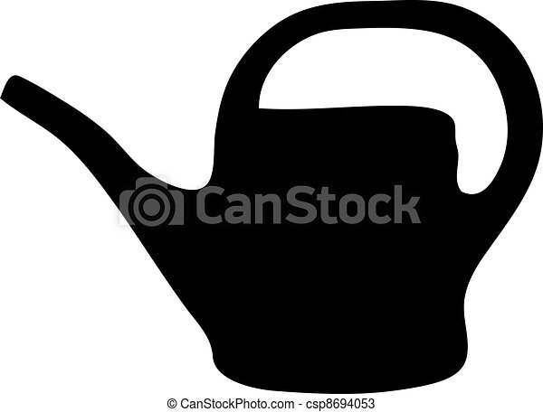 Watering can silhouette - csp8694053