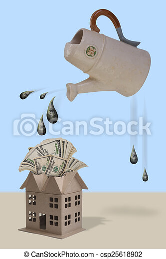 Watering Money. - csp25618902