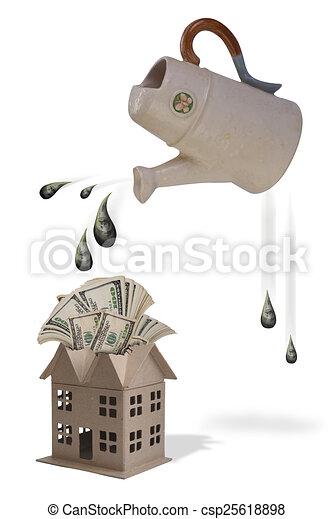 Watering Money. - csp25618898