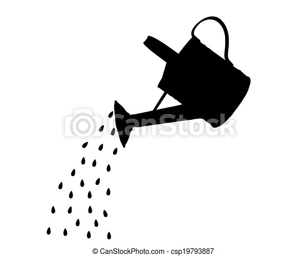 watering can pouring water clipart. watering pot can pouring water clipart u