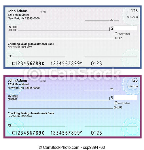 Watermark Security Personal Checks - csp9394760