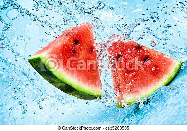 watermelon and water - csp5260535