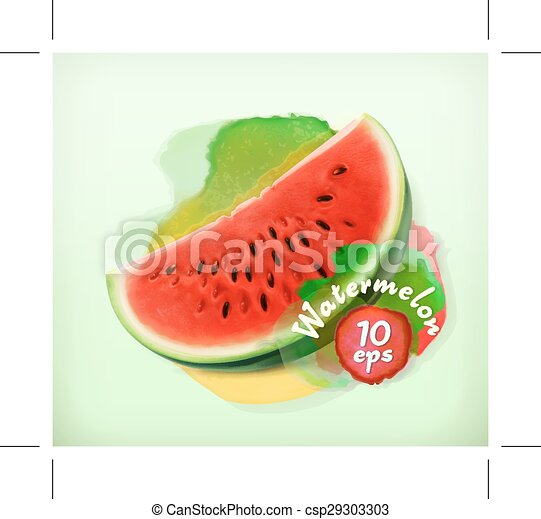 Watermelon illustration - csp29303303