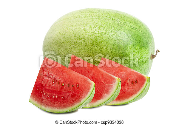 Watermelon isolated on white - csp9334038