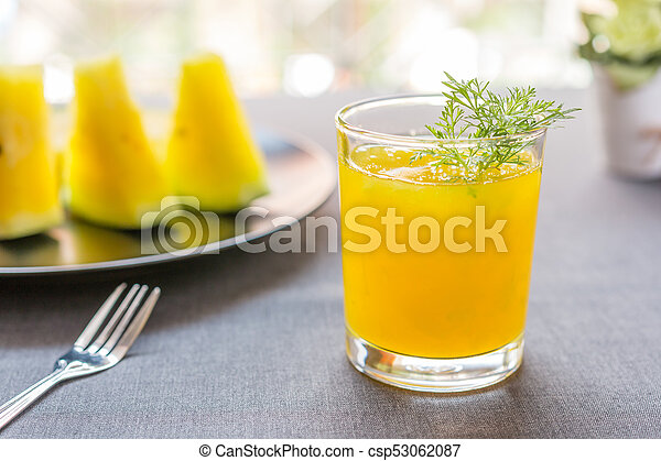 Watermelon juice with yellow pulp - csp53062087
