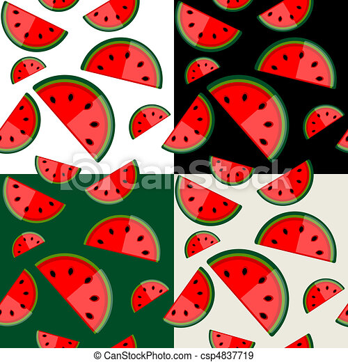 Watermelon seamless background for your design - csp4837719