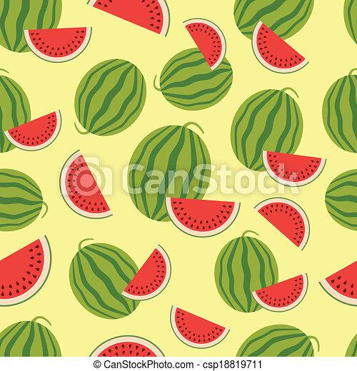 Watermelon seamless background. - csp18819711