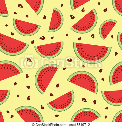 Watermelon seamless background. - csp18819712