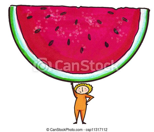 Watermelon Slice - csp11317112