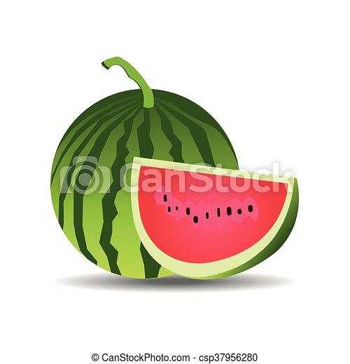 watermelon vector - csp37956280