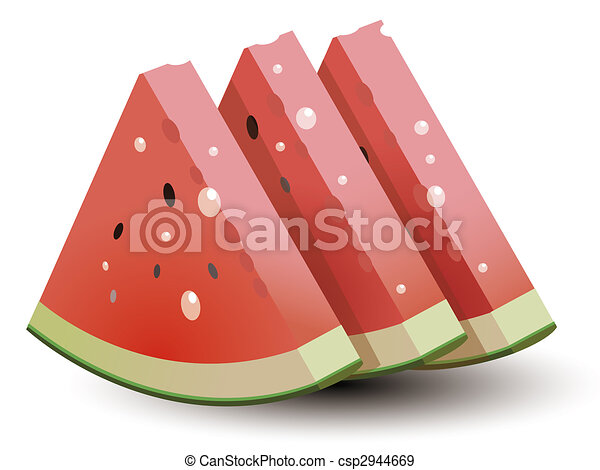Watermelon with water drop - csp2944669