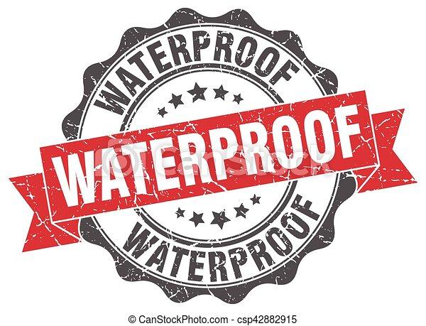 waterproof stamp. sign. seal - csp42882915