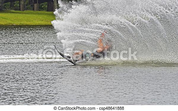 Waterskier Falling - csp48641888