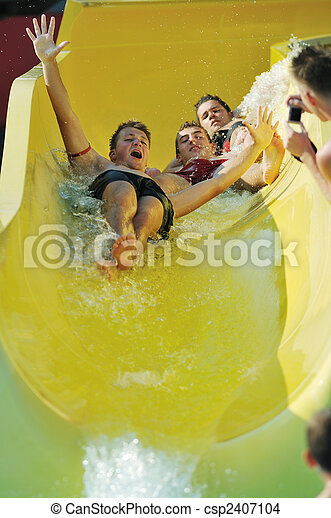 waterslide - csp2407104