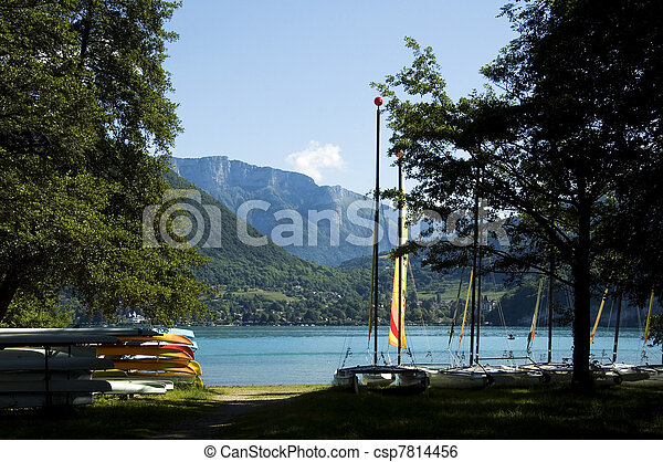 Watersports at Annecy lake - csp7814456