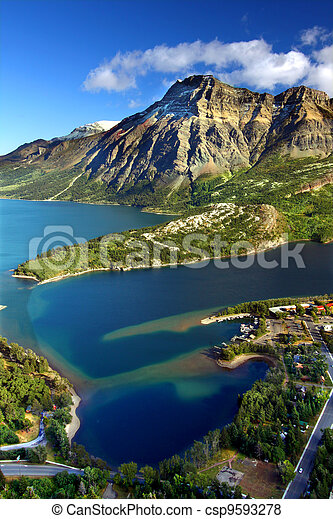 Waterton Lakes National Park Canada - csp9593278