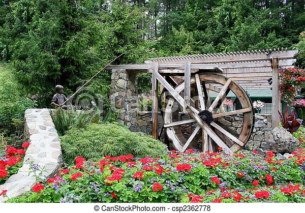 waterwheel, 花园 - csp2362778