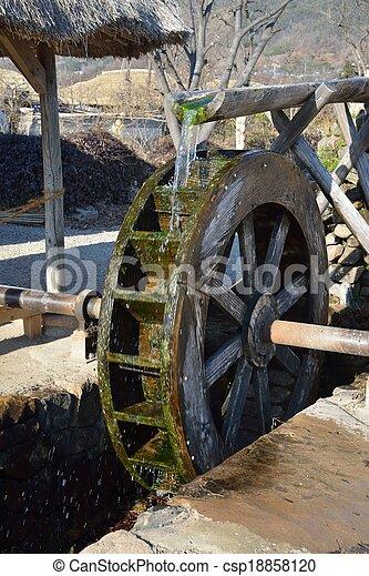 waterwheel in NakAn Old Town - csp18858120