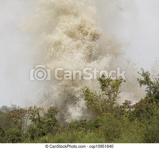 Watery explosion - csp10951640
