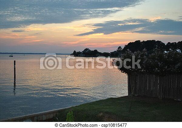 Watery Sunset - csp10815477