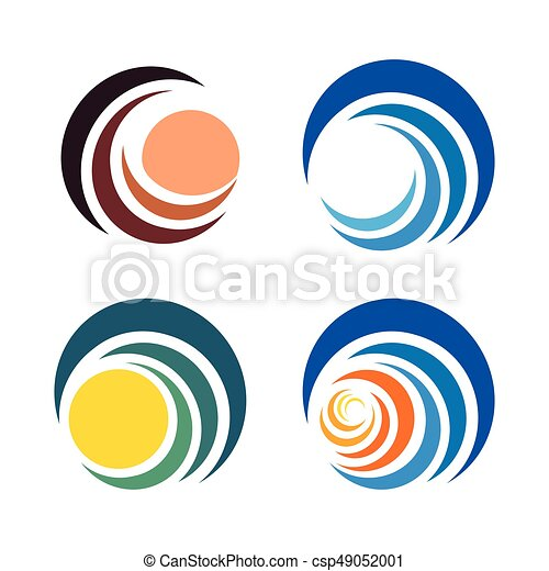 wave and sun sunset and sunrise logos isolated abstract vector rh canstockphoto com sun logistics stock sun logos images