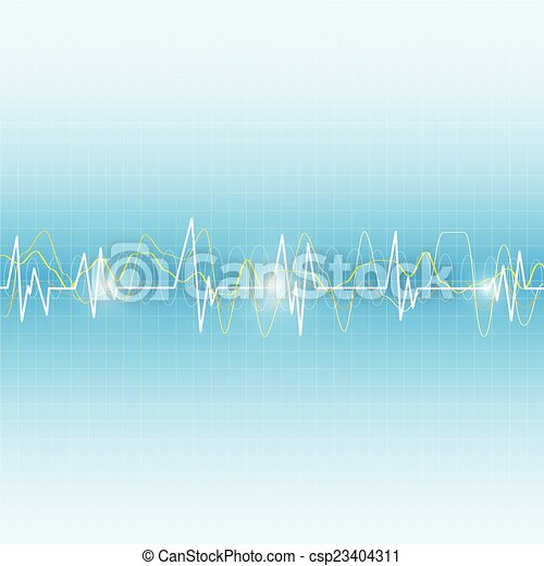 wave medical abstract background - csp23404311