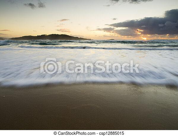 Wave on the beach - csp12885015