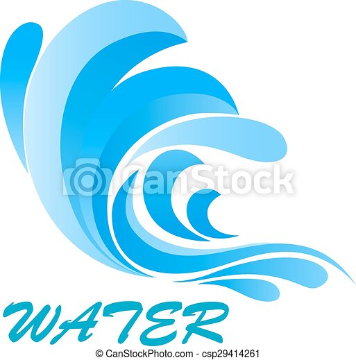 wave symbol with flowing and curving water sea wave symbol clip rh canstockphoto com vector wave free vector wave scalar wave