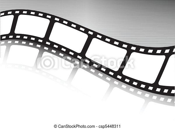 Waved film strip vector illustratio - csp5448311