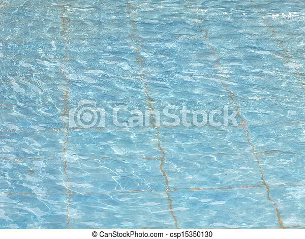 Waved water in a basin - csp15350130