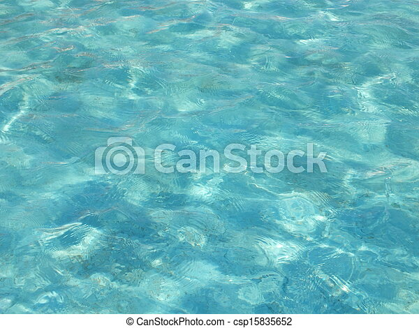 Waved water in a blue basin - csp15835652