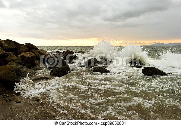 Waves Crashing - csp39652881