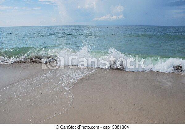 Waves crashing - csp13381304