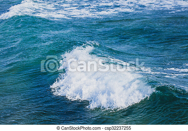 Waves in sea - csp32237255