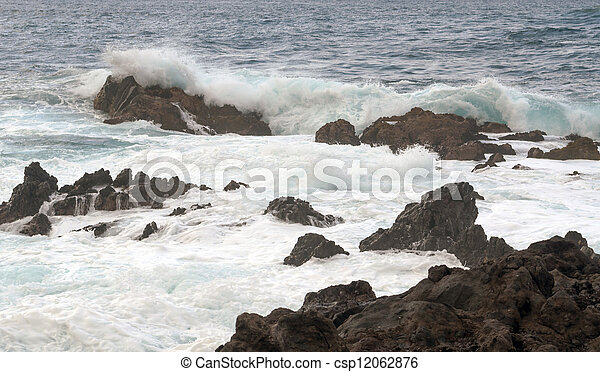 Waves in the sea - csp12062876