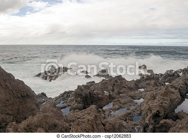 Waves in the sea - csp12062883