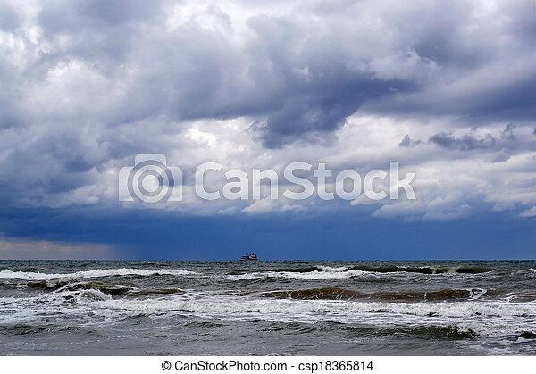 Waves of the Black Sea, Anapa, Krasnodar Krai - csp18365814
