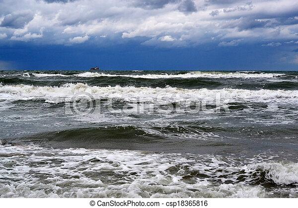 Waves of the Black Sea, Anapa, Krasnodar Krai - csp18365816