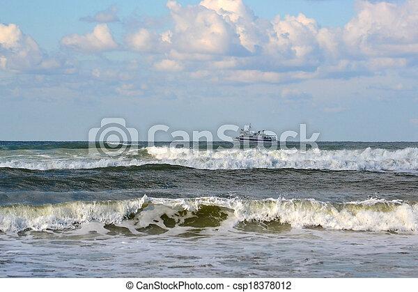 Waves of the Black Sea, Anapa, Krasnodar Krai. - csp18378012