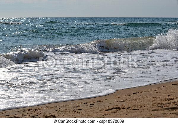 Waves of the Black Sea. Anapa, Krasnodar Krai. - csp18378009