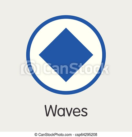 WAVES - Waves  The Crypto Coins or Cryptocurrency Logo
