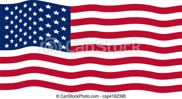 Waving American Flag - csp4162398