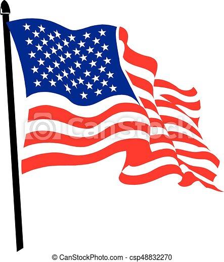 Waving American Flag Logo Design Usa Patriot Tech Logotype Moving