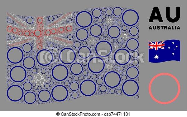 Waving Australia Flag Pattern of Pharmacy Items - csp74471131