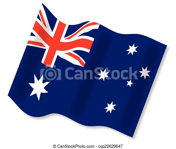 Waving Australian Flag - csp22629647