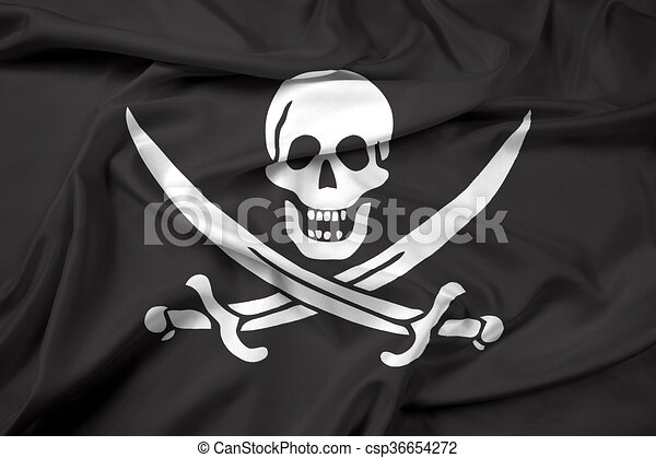 Waving Calico Jack Pirate Flag - csp36654272